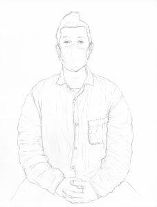portraits-2020 - Loghman - Damien Roudeau, artiste