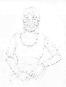 portraits 2020 - Loghman - Hélène Gaudy, autrice