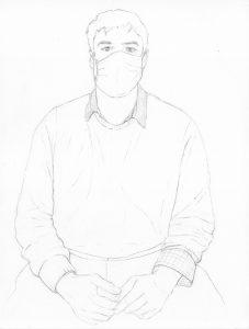 portraits 2020 - Loghman - Laurent Proux, peinture