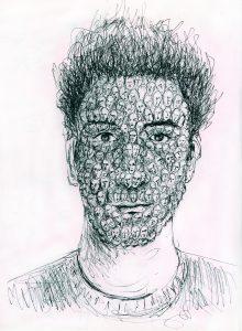 Autoportrait fractal par Sebastien Loghman