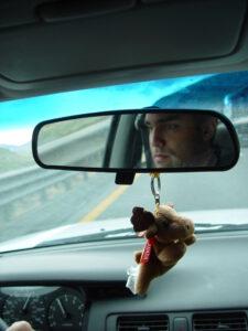 Sur la route dans le désert du Nevada