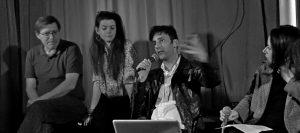 Sebastien Loghman et la critique d'art Violaine Boutet de Monvel au Silencio