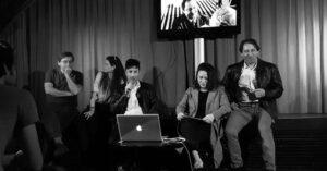 Sebastien Loghman au Silencio avec la critique d'art Violaine Boutet de Monvel à l'occasion de la projection de UNCUT.