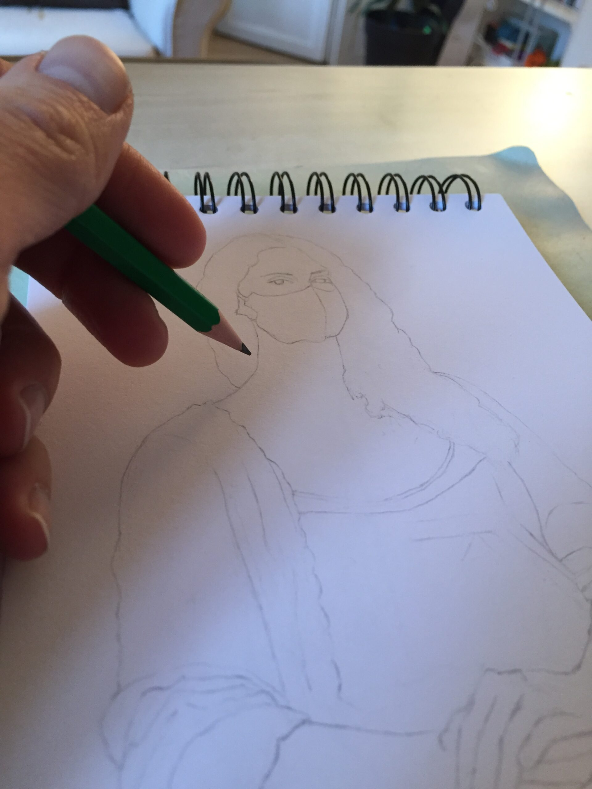 Portraits 2020 - dessin en cours