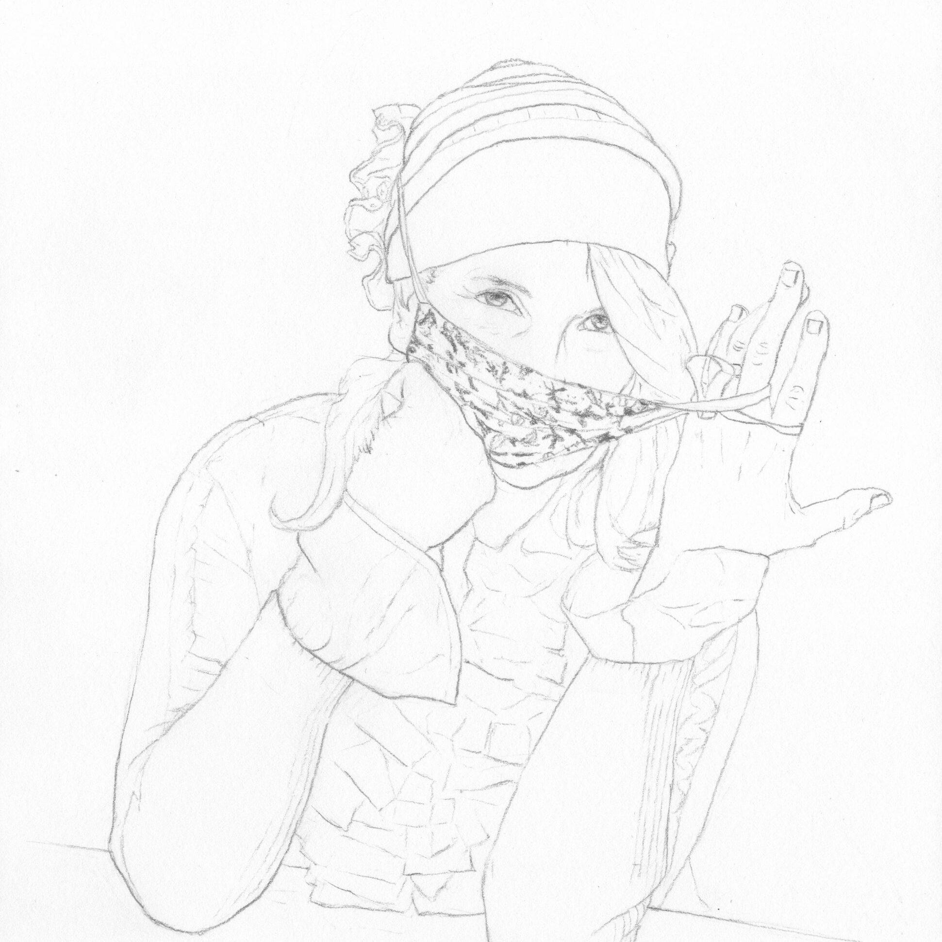 portraits 2020 - Loghman - Sigrid Coggins, artiste